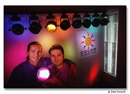 George Mueller & Ihor Lys, Co-founders, Color Kinetics, Inc. <br>Boston, Massachusetts. November 1999